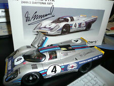 MARTINI PORSCHE 917K AUTOGRAPHED AA 1:18 VIC ELFORD DAYTONA 24 hours 1971