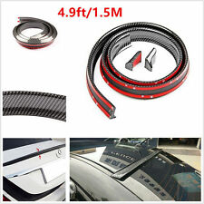 Universal 1.5m Carbon Fiber Car Rear Wing Lip Spoiler Tail Auto Trim Stickers