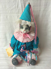 """Betty Jane Carter """"Rudy Tootie"""" Musical Porcelain Cat Limited Edition Bette Ball"""