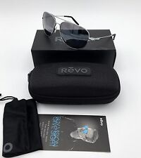 NEW REVO Windspeed Polarized Aviator Sunglasses Chrome / Graphite  RE 3087 03 GY