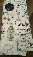 Cynthia Rowley SWEET HOME HAPPY SAYINGS PRETTY New Kitchen Dish Towels Set of 2