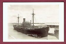 Port Everglades FL RPPC Real Photo Postcard~German Freighter Aruca~Detained 1939