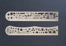 Photo-Etched Template/Scale Ruler for 1/48&1/35 scales/Saws (straight&curved)