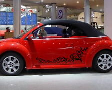 Car Flowers Door Decal for Beetle Vinyl Side Stickers #436