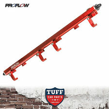 HOLDEN COMMODORE VL RB30 PROFLOW BILLET TOP FEED FUEL RAIL KIT RED 14MM RB30ET