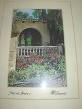 Framed Signed Martin Roberts Art Print Hollywood Regency Modern Italian Arches