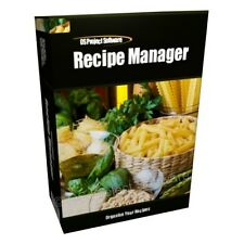 Recipe Manager Import MasterCook Files Create PDF PC Software Program