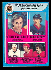 1979-80 OPC O PEE CHEE #7 WINNING GOAL LEADERS EX-NM MIKE BOSSY GUY LAFLEUR