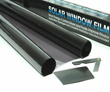 LIGHT BLACK 40% CAR WINDOW TINT 3m x 75cm FILM TINTING + KIT