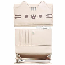 Pusheen Facebook Cat Susheen Snap Flap Wallet Clutch Billfold Zipper Pouch NWT