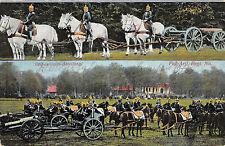 Bespanungs Abteilung Fuß Artl. Regt. Geschütze Feldpostkarte 1915