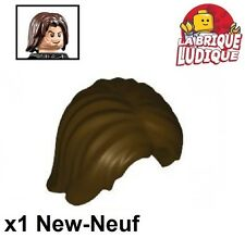 Lego - 1x Minifig cheveux coiffure hair tousled marron f/dark brown 88283 NEUF