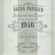 4x Single Table Party Paper Napkins for Decoupage Craft Vintage Bazar Parisien