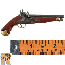 Herve French Dragoon - Flintlock Pistol (Wood)- 1/6 Scale - DID Action Figures