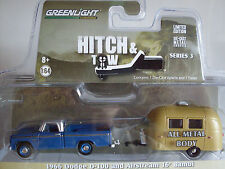 1966 Dodge D-100 mit Airstream 16´Bambi, Greenlight 1:64 lim. Edition, 32030/A