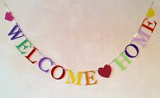 WELCOME HOME BANNER PARTY HOMECOMING BUNTING DECORATION