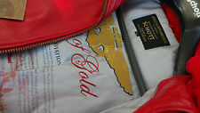 SCHOTT NYC  WINGS OF GOLD LEATHER BOMBER JACKET RED NEW W/TAGS size2 xl  topGUNS