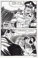 LE MONSTRE  PLANCHE ORIGINALE ELVIFRANCE PAGE 58