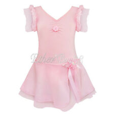 Girls Children Ballet Costumes Tutu Skirts Dance Skating Dress Leotard Dancewear
