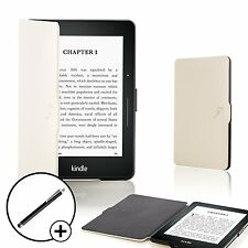 Forefront Cases White Smart Shell Case Cover for Amazon Kindle Voyage + Stylus