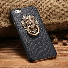 Waterproof 3D Lion Head Holder Shockproof Black Case Cover For iPhone 5S