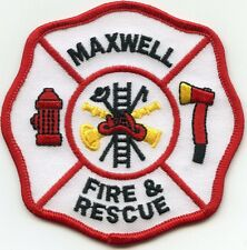 MAXWELL TEXAS TX Fire And Rescue FIRE PATCH