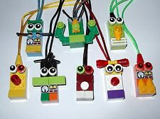 12 MAKE YOU OWN PARTY FAVORS LEGO BRICK BLOCK NECKLACES  BIRTHDAY GRAB BAGS GIFT