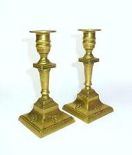 Zwei Sabbat Kerzenständer Judaica Bronze um 1900
