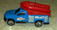 New Loose Matchbox Blue Ford F Series Truck with Red Raft Boat MBX Watersports