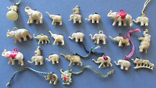 23 + 2 OLD VINTAGE CELLULOID ELEPHANT CHARMS, COMPASS, CRACKER JACK, GUMBALL ETC