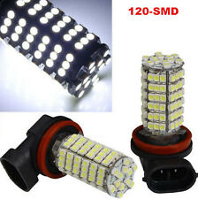 2x H11 6000K White 120 3528-SMD LED Car Fog DRL Daytime Running Light Bulbs 12V
