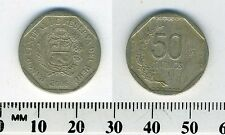 Peru 2006 - 50 Centimos Copper-Nickel-Zinc Coin - National arms within octagon