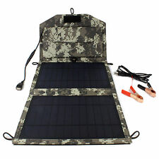 10W 12V Portable Camo Bag Solar Panel Battery Charger for Car Truck Powerbank