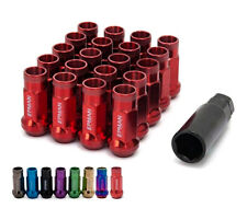 Lug Nuts M12x1.25 RED Forged Steel 20pcs Lugs Length 48mm Acorn Tuner D1 Blox