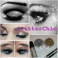 Glitter Eye Shadow Fine Gold and Silver with Fix Gel EXTRA Sparkle for XMAS