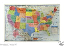 """United States US Wall Map - 40"""" x 28"""" USA Large Poster Size - Home School Office"""