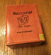 Baccarat The Game Empty Cigar Box. Free Shipping.