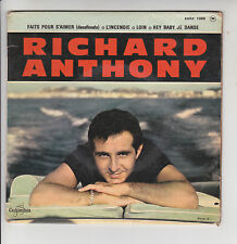 """Richard ANTHONY  Vinyl 45 tours EP 7"""" FAITS POUR S'AIMER - COLUMBIA 1369 RARE"""
