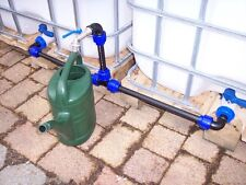 Connection set for 2 IBC storage tanks lever tap valve for rain water #1011S *B