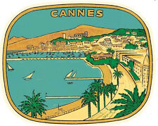 Cannes  France   Film Festival French Riviera  Vintage-1950's Style Travel Decal