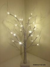 70cm Snowy Glitter Twig Tree/Pre-lit/24 LED White Christmas Lights/Decoration