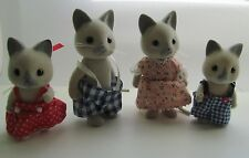 CALICO CRITTERS VINTAGE SOLITAIRE CAT FAMILY BY SYLVANIAN RARE HTF