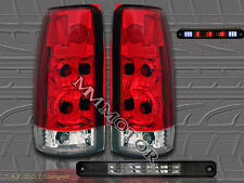 88-98 CHEVY SILVERADO GMC C/K TRUCK RED TAIL LIGHTS G2+LED SMOKE 3RD BRAKE LIGHT