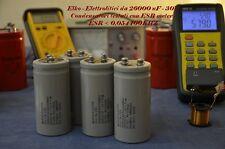 Elko 4 Condensatori Elettrolitici NOS Military Mepco Electra 26000uF 30V 40surge