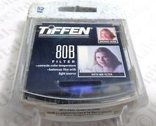 TIFFEN 52mm 80B 80-B 80 B Blue Glass Lens Filter 52 mm 6280B Color Conversion