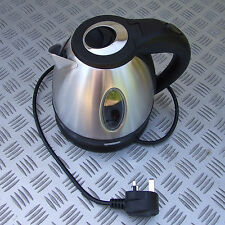 COMPACT 780W CORDLESS KETTLE STAINLESS STEEL 1.2 LITRE CARAVAN VW CAMPER TENT