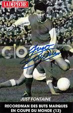Just Fontaine (FRA) WM 1958 Torschützenkönig (13) original signiert/signed !!!