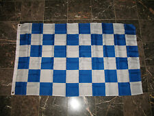 3x5 Advertising Checkered Checker Blue White flag 3'x5' banner