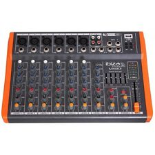 Ibiza Sound MX801 USB Audio Notepad Mixer Band PA System Studio