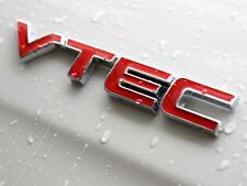 1X Metal RED VTEC Trunk Badge Emblem Stickers For i-VTEC For Car Civic Accord